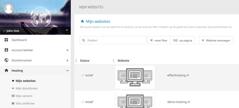 EffectHosting-Mijn-websites