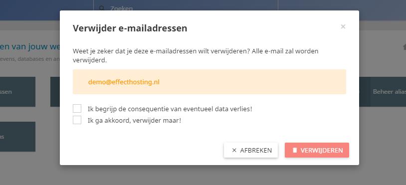 verwijder-e-mailadressen