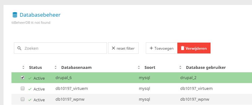 effecthosting_database-verwijderen